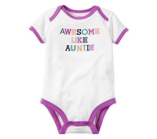 Carter's Baby Girls' Awesome Auntie Bodysuit 12 Months