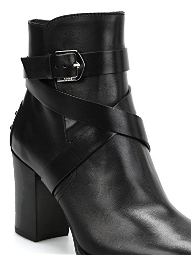 Booties Leather Strap Tod's Donna Detailed Nero 4vB1nwZq