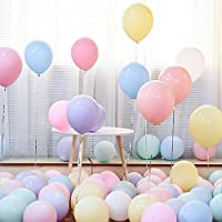 100PCS Pastel Balloons Assorted Pastel Balloon Thick Macaron Balloon for Birthday Wedding Baby Shower Bridal Shower…