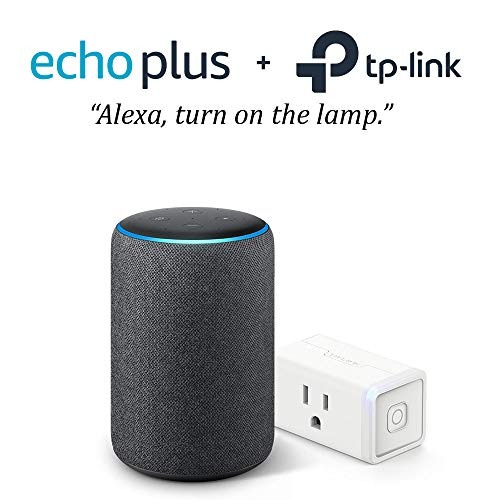 Amazon - Echo Plus (2nd Gen) - Smart Speaker with Alexa and built in smart home Hub - Charcoal