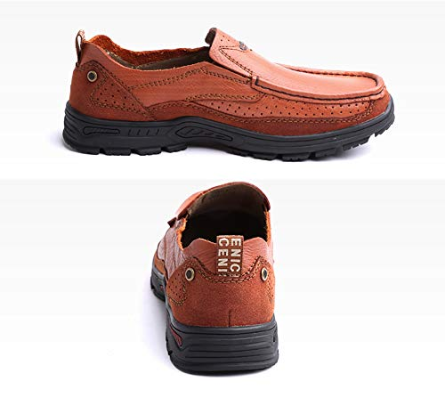 Testa On LXLA Light Da Con Per Uomo Uomo 42 dimensioni Casual Scarpe Confortevoli Da Slip Mocassini Esterne brown Da Uomo Light Arrotondata Colore Brown Uomo wIIx6qC