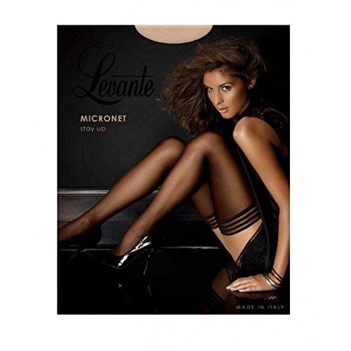 Levante Women's Tulle Micronet Thigh-highs black small-medium 4'9