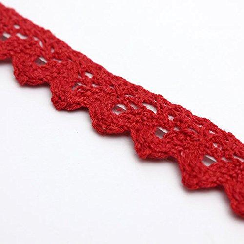 BABAN 1pc 1.7M Rouleau Ruban Dentelle D/écoratif Adh/ésif Autocollant Galon Cadeau Masking Tape rouge