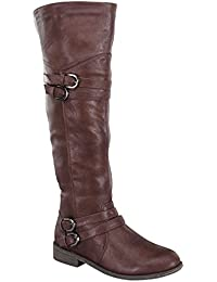 Womens Fay-42 Over The Knee Buckle Riding Boots