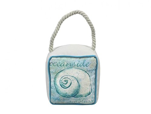Hampton Nautical ZH-64396-B Blue Green Canvas Sandbag Nautilus Door Stop 6