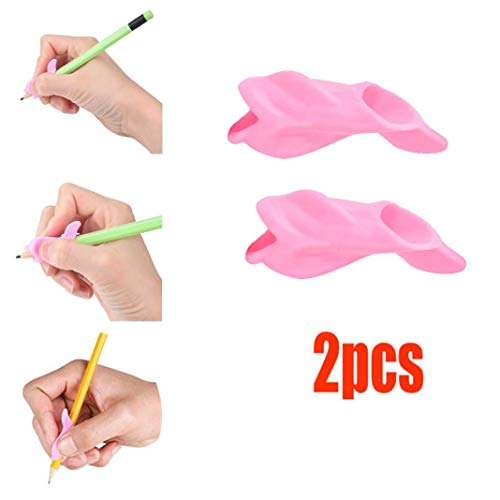 Sagton Writing Posture Corrector for Kids, 2pcs Fish Design Pencil Grip Silicone Aid Training