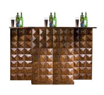 Shilpi Handicraft Sheesham Wooden Bar Cabinet, Liquor Cabinet, Wine Rack Home Bar Furniture