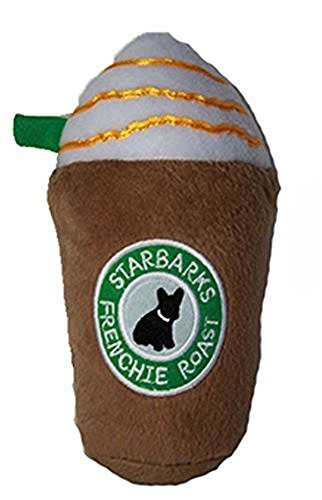 Diggity Dog Toy (Haute Diggity Dog Starbarks Frenchie Roast Latte Pet Plush Toy with Squeker)