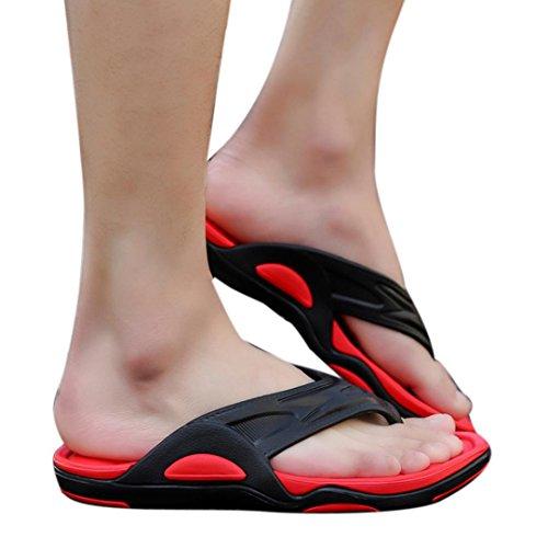 Verano Flip Rojo Baño De Zapatos Qinmm Playa Para Y Hombre Casual Sandalias Flops Chanclas FqRvw6xZS