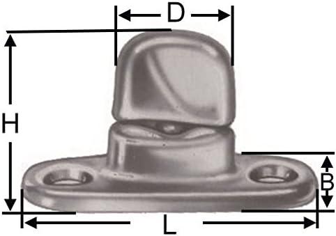 Versandbox24 20 Stück Dot Drehverschluss Schwenkriegel Für Ovalösen Anhänger Plane Persenning Planenhaken Auto