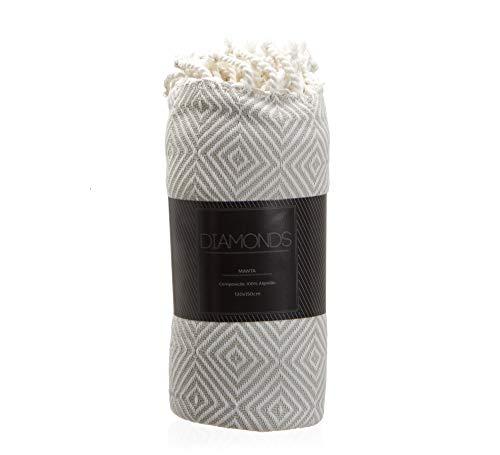 Manta Diamonds Etna Areia 120x150cm Têxtil