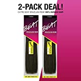 2-PACK DEALS! Outre Remy Human Hair Weave Beat Brazilian Remi (10', 1B)