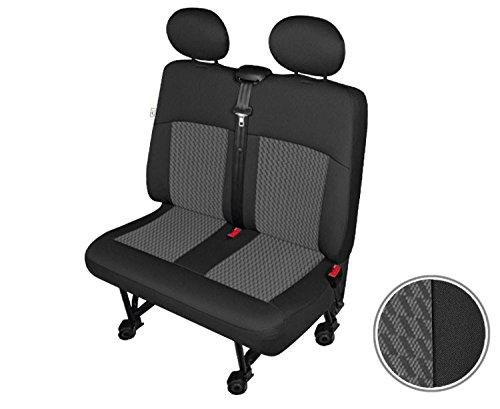 Doble Banco Negro Mercedes Sprinter Juego Fundas de asiento asiento asiento del conductor