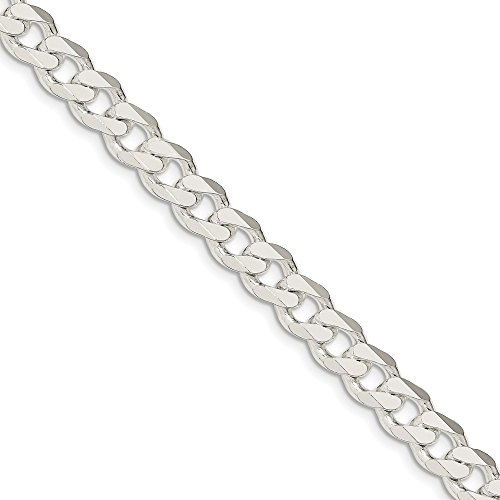 925 Sterling Silver 9mm Curb Bracelet 9inch by Diamond2deal