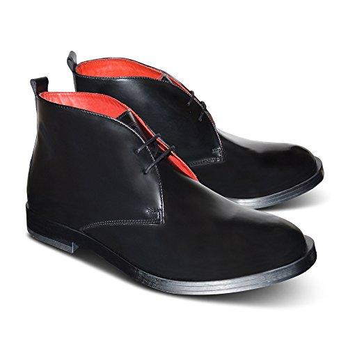 Xelay Spitz Stiefeletten EU Herren Lace Zulaufend Sportlich Up Leder Biker Schick Black Schuhe Größe Hydro Gefüttert Chelsea rrf0xRq