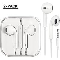 iPhone Earphones 2 Pack,Earbuds, Stereo Headphones With...
