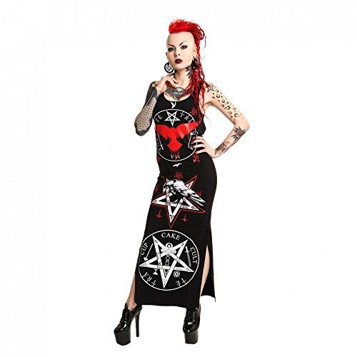 Cupcake cult okkult maxi robe sans manches-black robe bretelles crow pentagramme gothique en forme de pentagramme