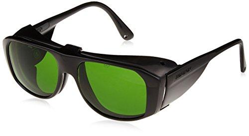 (Uvex S212 Horizon Safety Eyewear, Black Frame, Clear Hardcoat Lens with Flip-Up Shade 3.0 Hardcoat Lens )