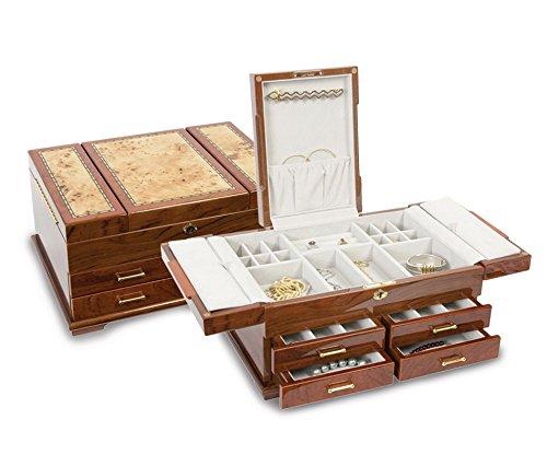 Bubinga Veneers w/Mapa Burl Inlay Jewelry Box by Saris and Things (Image #3)