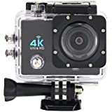 Acouto 4K 16M 4X HD 1080P Action Camera 170°Wide Angle 2 LCD Screen Wifi Waterproof Sport Camera DV Camcorder with Waterproof Housing Case and Remote Cotroller Accessories Kit