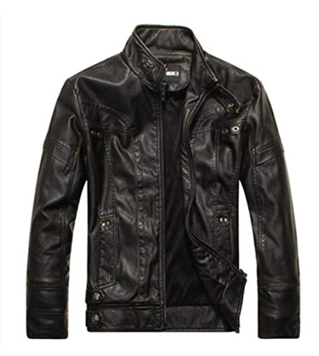 - Motorcycle Leather Jackets Business Casual Coats 01 01 XXXL