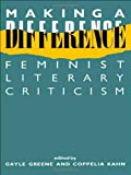 img - for Making a Difference: Feminist Literary Criticism (New Accents) book / textbook / text book