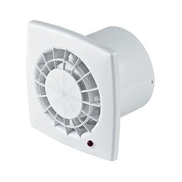Muni d/'une valve anti-retour de fum/ée noir Ventilateur extracteur pour salle de bain A/érateur de cuisine moderne avec panneau avant 125/mm