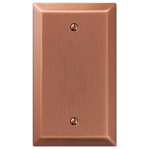 Amerelle Century Blank Steel Wallplate in Antique Copper