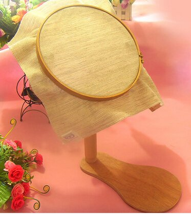 Dia28cm 360 Degree Rotation Cross Stitch Frame High Adjustable Wooden Embroidery Frame Rotatable Hoop by WOMEI