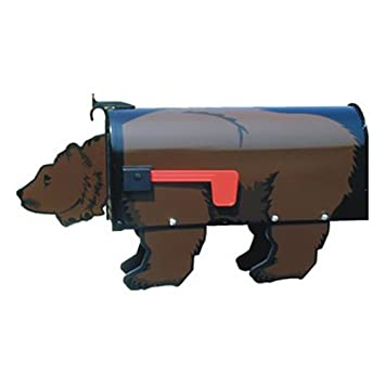 amazon com brown bear post mount mailbox home improvement
