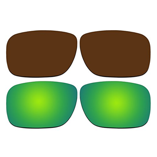 Replacement Polarized Bronze Brown and Emerald Green Lenses for Oakley Holbrook - Holbrook Polarized Bronze