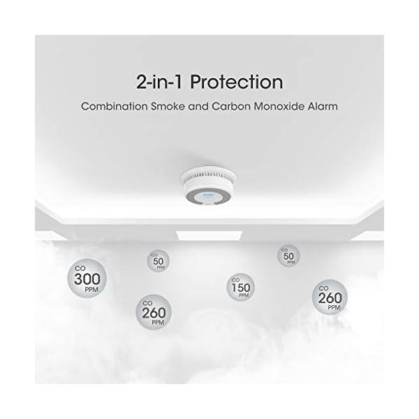 41 tHDgGi8L X-Sense Rauch- CO Melder 10 Jahrer Rauch- und Kohlenmonoxid-Melder, mit LCD Anzeige und Prüftaste, 360°Überwachung, Auto…