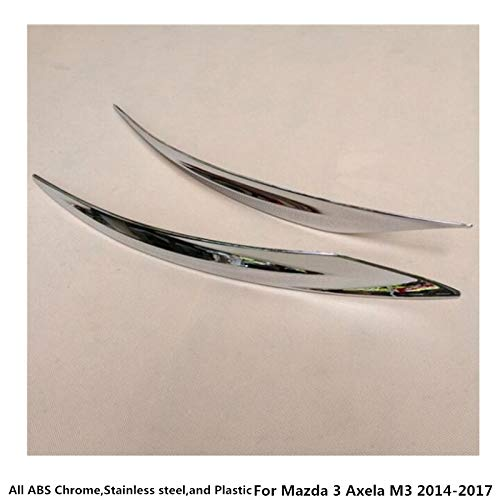 Bingo Point for Mazda 3 Axela M3 2014 2015 2016 2017 car Styling Body Rear Back Bumper Corner Protection Trim Frame Edge Board ABS Chrome