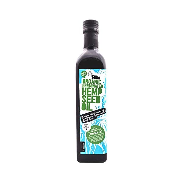 Organic Sprouted Hemp Seed Oil – Vegan and Gluten Free – 500ml