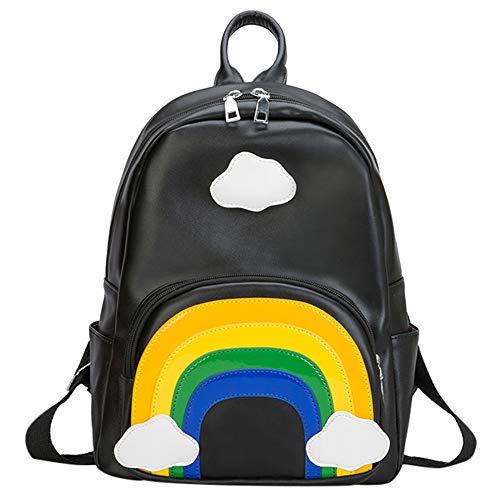 GiveKoiu- Backpack 1611, Sac pour Femme à Porter à l'épaule Noir Noir