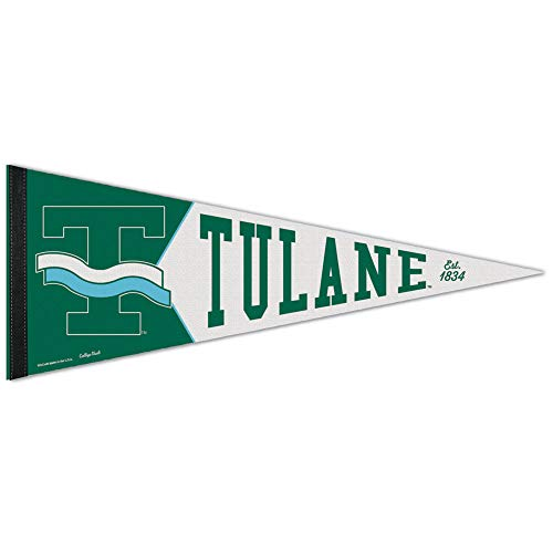 WinCraft Tulane Green Wave NCAA 12X30 Premium Pennant - Team Color, ()