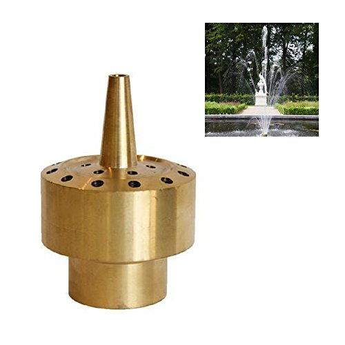 NAVA Brass Column Fountain Nozzle Sprinkler Spray Head Pond (1/2
