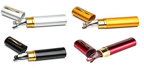 SOOLALA Lightweight Compact Reader Reading Glasses Reader w/ Pen Clip Tube Case (4-pack/SilverYellowBlackRed, 2.25)