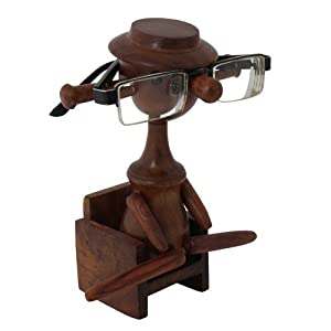 Craft Art India Decorative Handmade Doll Shaped Spectacle/Specs/Eyeglass/Glass Holder/stand {CAI-HD-0015/Size(Inch) : 7x5x3}