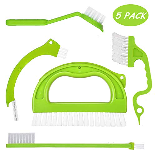 (5 in 1 Joint Brush Set Tile Grout Cleaner, Portable Deep Cleaning Scrubber with Nylon Bristles, Window Track Sliding Door Kitchen Groove Bathroom Appliances Floors and Other Household Cleaning Tools)
