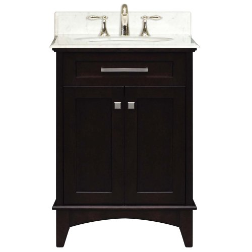Water Creation MANHATTAN24 Manhattan Collection 24-Inch (25-Inch with Countertop) Single Sink Bathroom Vanity Set