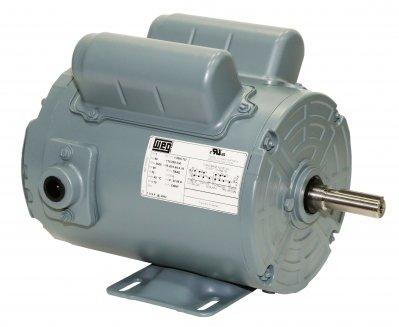 (WEG Electric .7536AS1RAF56Z-S.75HP, 3600 RPM, 1PH, 110-120V/230V, 56Z Frame, Standard Flange, Foot Mount, TEAO, Aeration Fan)