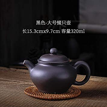 Yixing Large-Capacity Purple Clay Handmade Clay Large Bubble Teapot Kung fu Tea Cups Household Ceramic Kettle Army Green