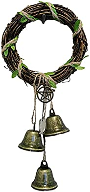 A/A Witches Bells, Door Protection Charm, Magic Chimes,Attracts Positive, Altar Decor, Witchcraft Wicca Door B