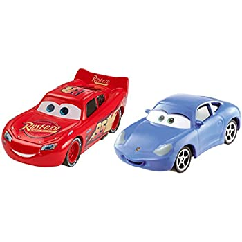 Mattel Cars 3 Lightning McQueen and Sally Die-Cast Vehicles, 2-Pack