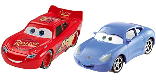 Car Movie Cars - Mattel Cars 3 Lightning McQueen and Sally Die-Cast Vehicles, 2-Pack