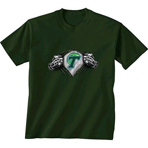 New World Graphics NCAA Tulane Green Wave Children Unisex Youth Super Short Sleeve Tee, X-Large, Forest (Green Tulane World)