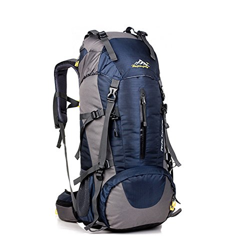 Hiking Backpack, MALEDEN 50L Internal Frame Backpack Water Resistant Daypack Backpacking Trekking Bag with Rain Cover for Outdoor Climbing,Camping,Mountaineering and Travel (Deep Blue, - Shaped Face Frames Diamond For