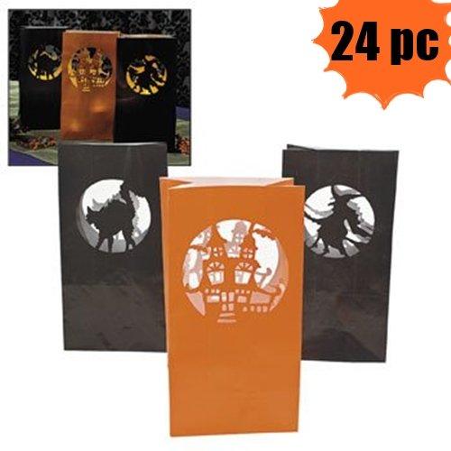 Halloween Luminary Bags (Halloween Silhouette Luminary Bags - 24 Per Order)