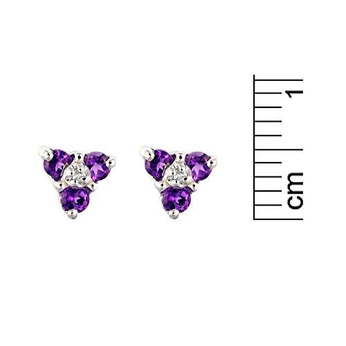 Parure collier et boucles d'oreilles - 181E0560 - 9 - Femme - Or Blanc 375/1000 (9 Cts) 1.07 Gr - Améthyste 0.015 Cts
